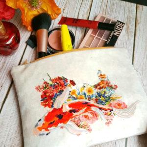 trousse plate en liège et velours création artisanale Lilipik